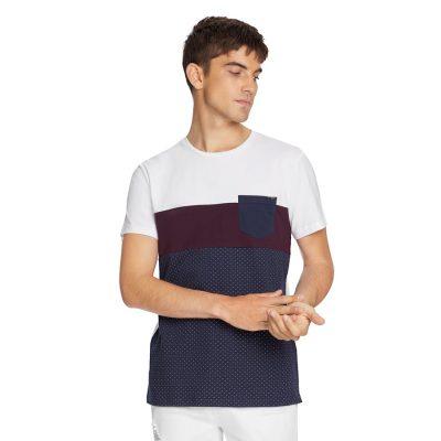 Fashion 4 Men - yd. Snipe Tee White/Navy Xl