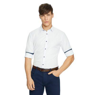 Fashion 4 Men - yd. Soul Textured Slim Shirt White M