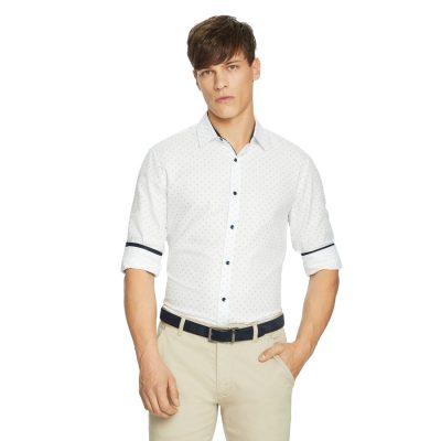 Fashion 4 Men - yd. System Textured Shirt White L