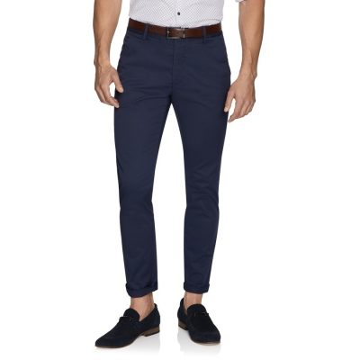 Fashion 4 Men - yd. Tommy Slim Chino Petrol 30