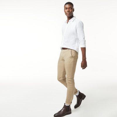 Fashion 4 Men - yd. Tommy Slim Chino Sand 28