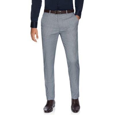 Fashion 4 Men - yd. Vincent Skinny Textured Dress Pant Steel Blue 40