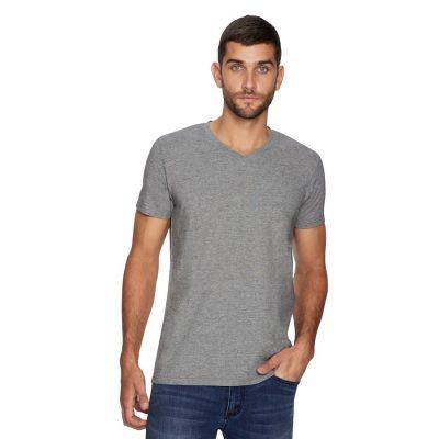 Fashion 4 Men - yd. Vinton Tee Charcoal Stripe Xl