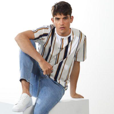 Fashion 4 Men - yd. Vortex Stripe Tee Multi M
