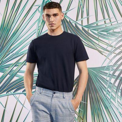 Fashion 4 Men - yd. Wellington Textured Tee Dark Blue Xs