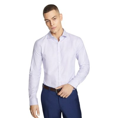 Fashion 4 Men - yd. Westin Slim Dress Shirt Lilac Xs