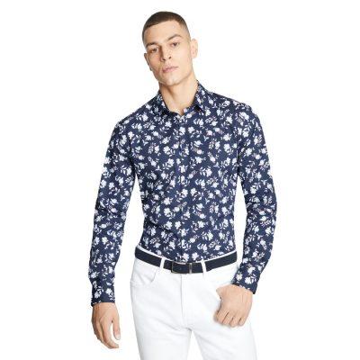 Fashion 4 Men - yd. Zayn Floral Slim Shirt Navy Xl