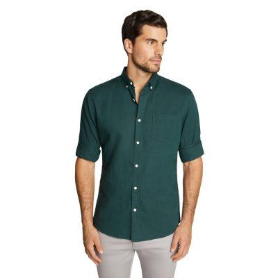 Fashion 4 Men - Tarocash Elliot Linen Shirt Emerald 4 Xl