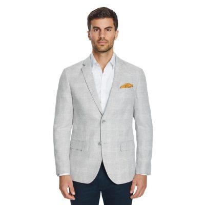 Fashion 4 Men - Tarocash Genoa Check Linen Blazer Natural Xs