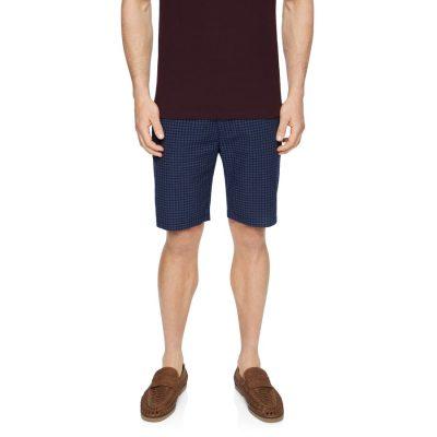 Fashion 4 Men - Tarocash Hammond Stretch Check Short Navy 35