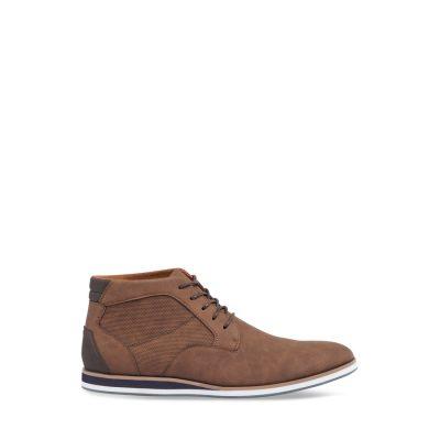 Fashion 4 Men - Tarocash Lorenzo Textured Lace Up Boot Tan 7