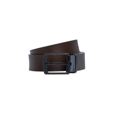 Fashion 4 Men - Tarocash Marten Reversible Prong Belt Choc/Blk 42