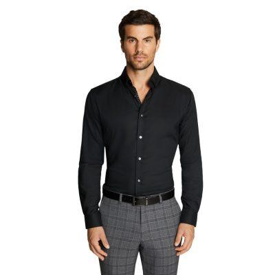 Fashion 4 Men - Tarocash Mercer Bamboo Shirt Black S