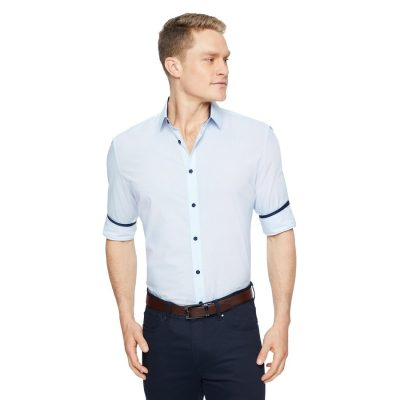 Fashion 4 Men - Tarocash Percival Print Shirt Blue Xxl