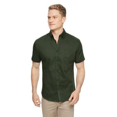 Fashion 4 Men - Tarocash Peterson Linen Shirt Khaki S