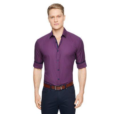 Fashion 4 Men - Tarocash Robinson Stretch Check Shirt Berry Xxl