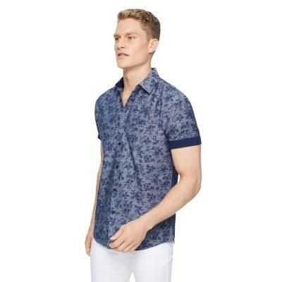 Fashion 4 Men - Tarocash Santorini Floral Print Shirt Denim Xxl