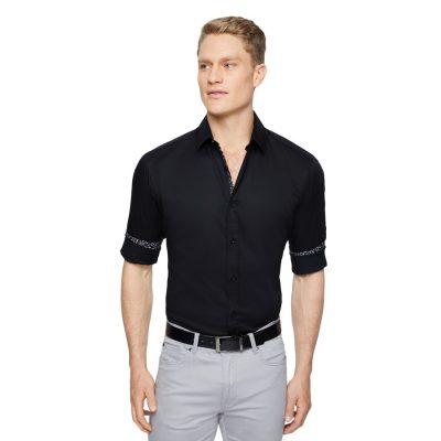 Fashion 4 Men - Tarocash Simpson Slim Stretch Shirt Black Xl