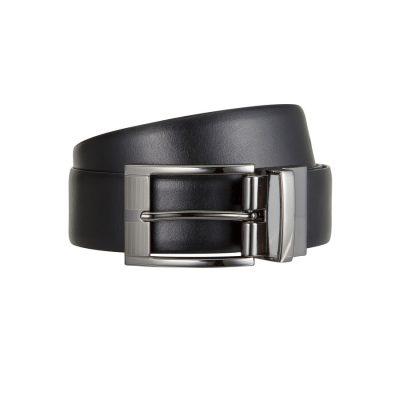 Fashion 4 Men - Tarocash Thomas Reversible Prong Belt Black / Tan 42