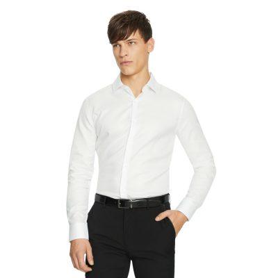 Fashion 4 Men - yd. Astoria Textured Slim Dress Shirt White 2 Xs