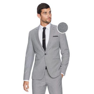 Fashion 4 Men - yd. Beretta Skinny Textured Suit Jacke Black 32