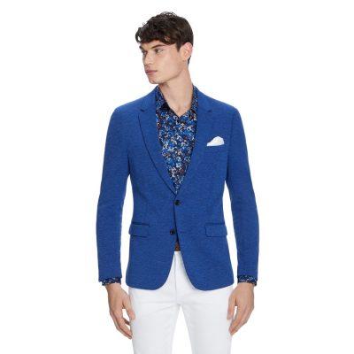 Fashion 4 Men - yd. Bronte Knitted Blazer Cobalt 3 Xs