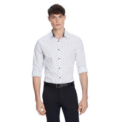 Fashion 4 Men - yd. Colombo Slim Shirt White 2 Xs