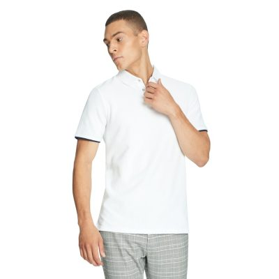 Fashion 4 Men - yd. Dorian Textured Polo White 2 Xs