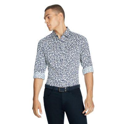Fashion 4 Men - yd. House Abstract Slim Shirt Multi M