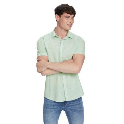 Fashion 4 Men - yd. John Linen Shirt Sage M