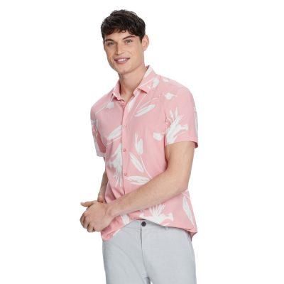 Fashion 4 Men - yd. Kray Print Shirt Pink 2 Xs
