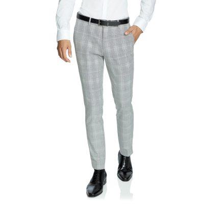 Fashion 4 Men - yd. Power Check Skinny Dress Pant Gunmetal 32