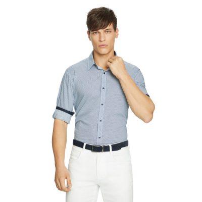 Fashion 4 Men - yd. Raymon Geo Shirt Teal M