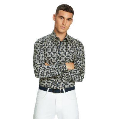 Fashion 4 Men - yd. Ready Slim Shirt Dark Blue M