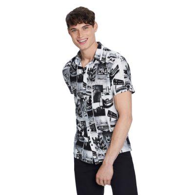 Fashion 4 Men - yd. Roadtrip Printed Shirt Black Xxxl