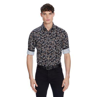 Fashion 4 Men - yd. Rolleston Slim Shirt Black M