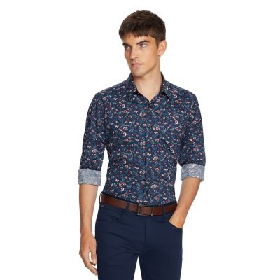 Fashion 4 Men - yd. Rothko Slim Shirt Dark Blue Xs