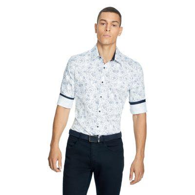 Fashion 4 Men - yd. Zeller Slim Shirt White 3 Xs