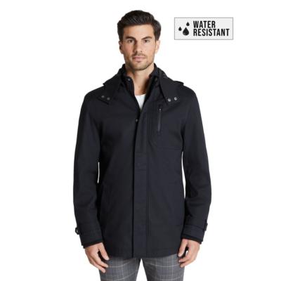 Fashion 4 Men - Tarocash Abe Water Resistant Hooded Jacket Black Xxxl