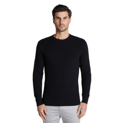 Fashion 4 Men - Tarocash Bradford Textured Knit Black Xxl