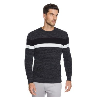 Fashion 4 Men - Tarocash Brayden Textured Knit Charcoal M