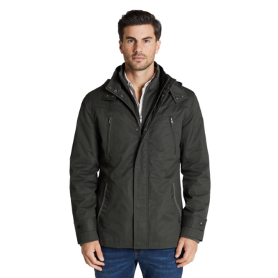 Fashion 4 Men - Tarocash Don Water Resistant Hooded Jacket Khaki Xxxl