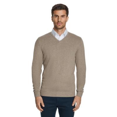 Fashion 4 Men - Tarocash Essential V Neck Knit Latte Xxl
