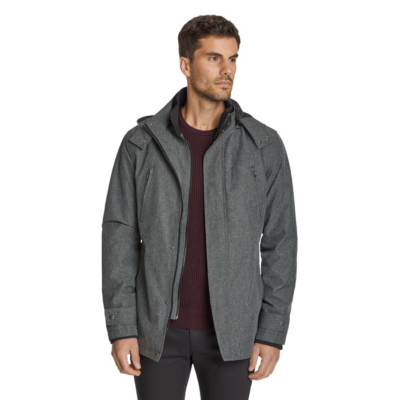 Fashion 4 Men - Tarocash Kai Water Resistant Hooded Jacket Charcoal M