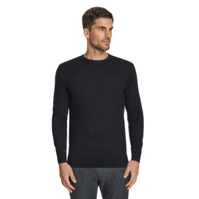 Fashion 4 Men - Tarocash Merino Wool Crew Neck Knit Black L