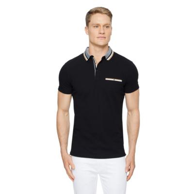 Fashion 4 Men - Tarocash Roman Stretch Muscle Polo Black L