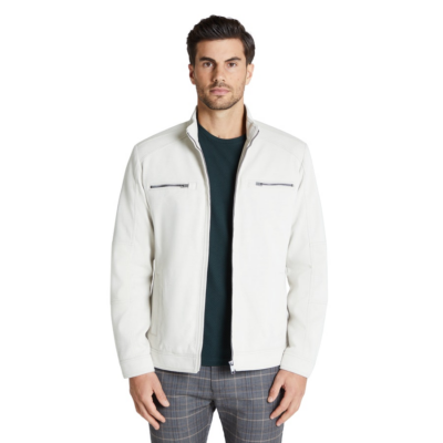 Fashion 4 Men - Tarocash Wylder Moto Jacket Stone S