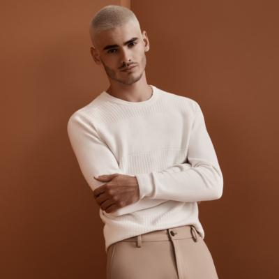 Fashion 4 Men - yd. Hemsworth Knit Winter White 2 Xs