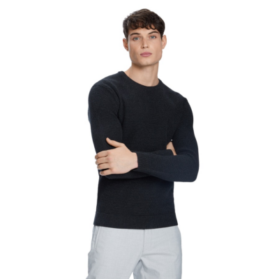 Fashion 4 Men - yd. Jayce Crew Neck Charcoal 2 Xs