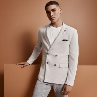 Fashion 4 Men - yd. Lincoln Double Breasted Blazer Latte 2 Xs